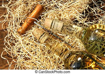 bouchon, bouteilles vin, vis