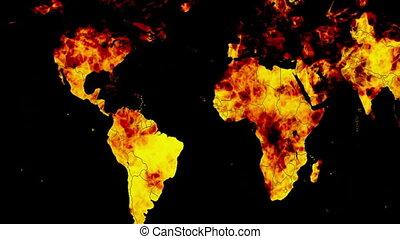 boucle, brûlé, la terre