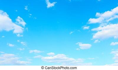 boucle, ciel, seamless, nuages, -, timelapse