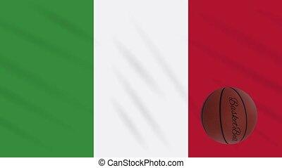 boucle, drapeau, tourne, basket-ball, wavers, italie