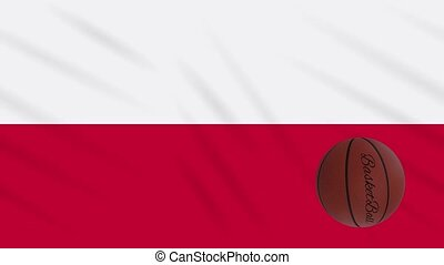boucle, drapeau, tourne, basket-ball, wavers, pologne
