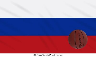 boucle, drapeau, tourne, basket-ball, wavers, russie