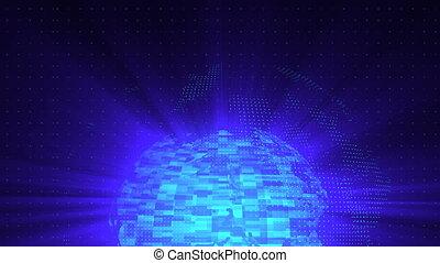 boucle, globe, render, déformation, verre, engendré, informatique, fond, numérique, résumé, toile de fond, 3d
