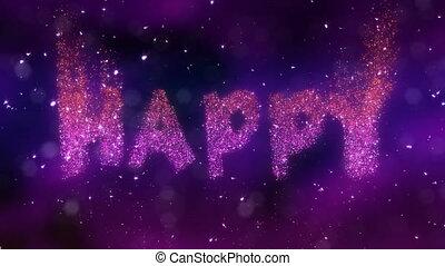 boucle, heureux, video., anniversaire