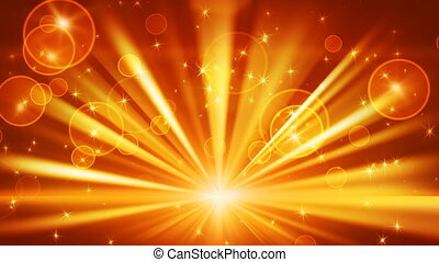 boucle, or, lumières, étoiles, briller