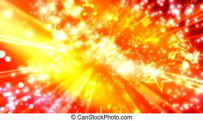 boucle, particules, musique, étoiles, notes