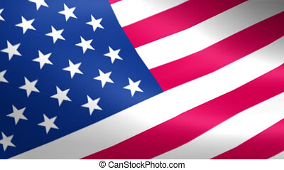 boucle, seamless, onduler, drapeau américain