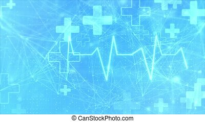 boucle, technologie, soin, santé, fond, monde médical, services