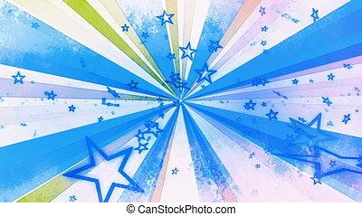 boucle, textured, étoiles, retro
