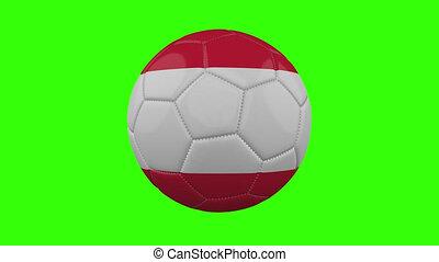 boucle, vert, alpha, transparent, tourne, autriche, balle, drapeau, fond