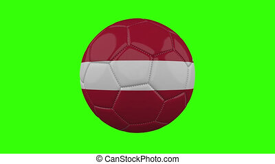 boucle, vert, alpha, transparent, tourne, balle, drapeau danemark, fond