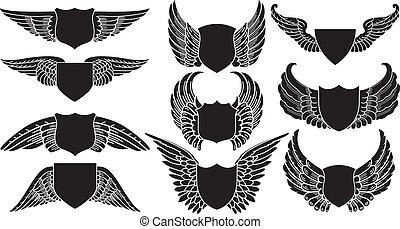 boucliers, ailes