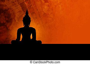 bouddha, fond