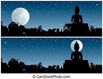 bouddha, nuit