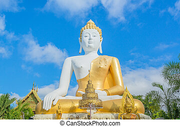 bouddha, statue, temple, or, thailand.