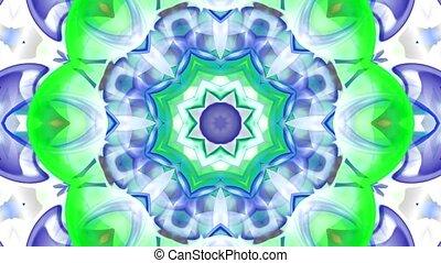 bouddhisme, fleur, fantaisie, verre, modèle