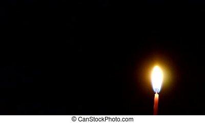 bougies brûler, night.