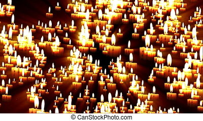 bougies, la terre, former, carte