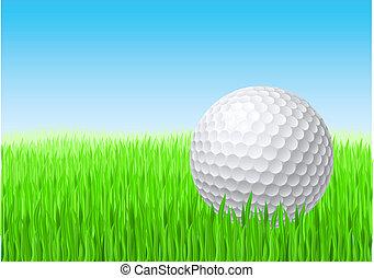 boule blanche, golf