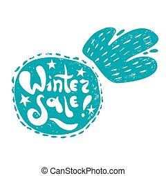 boule de neige, hiver, vente