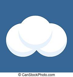 boule de neige, isolé, bleu, arrière-plan.