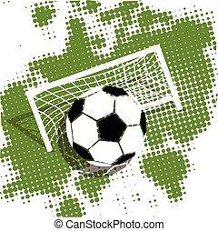 boule football, arrière-plan vert