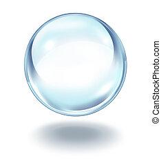 boule quartz, flotter