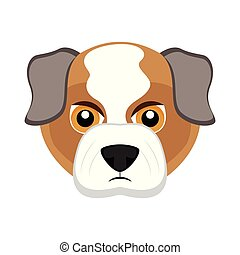 bouledogue, mignon, chien, avatar