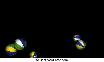 boules rebondissantes, plage