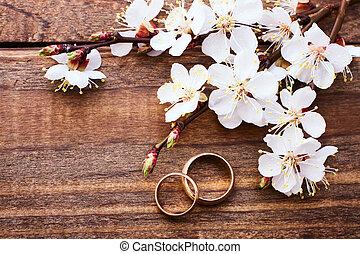 bouquet, arrière-plan., mariage