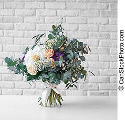 bouquet, clair, mariage
