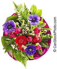 bouquet, fleurs, coloré