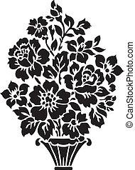 bouquet floral, illustration