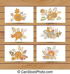 bouquet floral, vecteur, illustration, icône