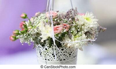 bouquet, gros plan, coloré, mariage