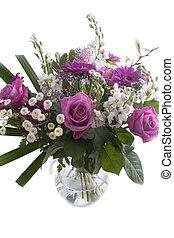 bouquet, mélangé, fleurs