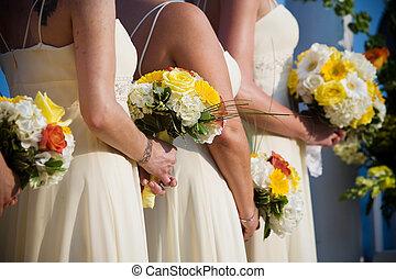 bouquet, mariage, arrangement fleur