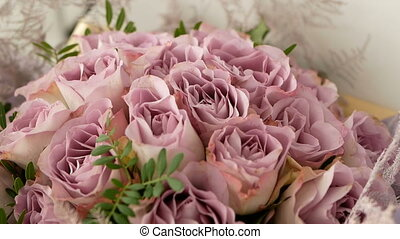 bouquet, roses, rose