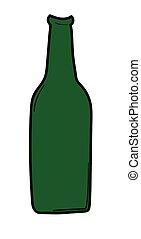 bouteille, bière verte