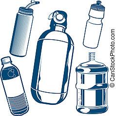 bouteille eau, collection