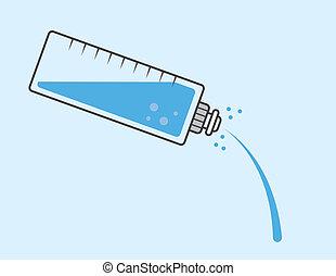 bouteille eau, verser