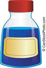 bouteille, illustration, vecteur