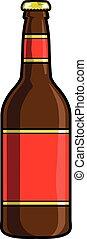 bouteille, vecteur, bière