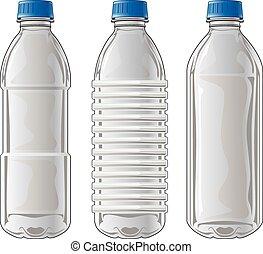 bouteilles, plastique