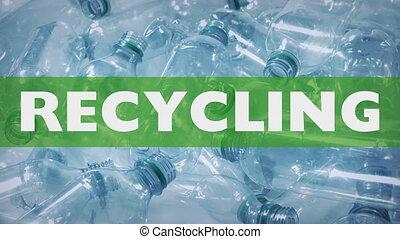 bouteilles, plastique, graphique, recyclage, gaspillage