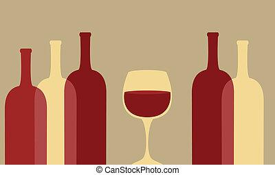 bouteilles verre, vin
