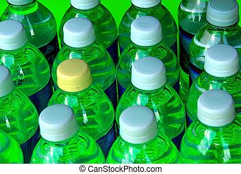 bouteilles, vert