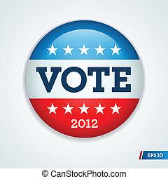 bouton, élection, campagne, 2012