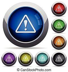 bouton, avertissement, ensemble