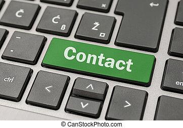 bouton, contact, clavier ordinateur